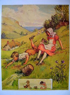 Jack and Jill, by Margaret Tarrant, via Etsy.
