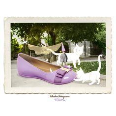 Ferragamo Mini, iconic shoe styles reimagined for the bambina about town, celebrated with whimsical postcards designed by Italian artist Giulia Sagramola for the Ferragamo girl in training. Explore mini.ferragamo.com