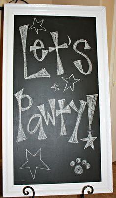 Cute Chalk Board Sign- Anyone have a chalk board?