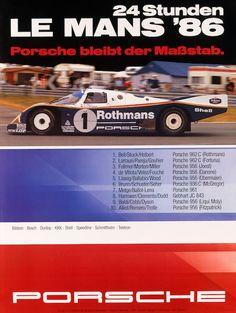Porsche at Le Mans 1982 to 1987 - History, Photos, Profile