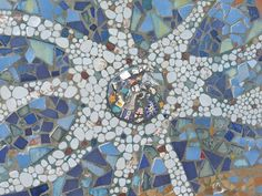 Beachcomber- mosaic made of sea glass