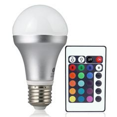 Lighting EVER Colour Changing LED Lamp with Remote Controller, Living colour, RGB LED