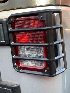 Pair Black Rear Taillight Cover Guard Hulk Logo for 07-18 Jeep Wrangler JK