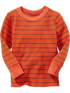 Striped Waffle-Knit Tees for Baby