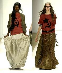 Sabyasachi Mukherjee - Spring 2008 Collection Mercedes-Benz Fashion Week - NY  Communist boho looks for fall