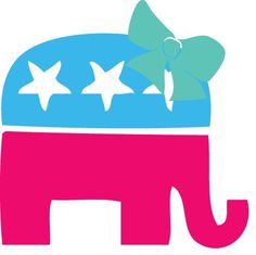 $6.00. Cute Republican Car Decal will proudly show off your political stance with a little flair.