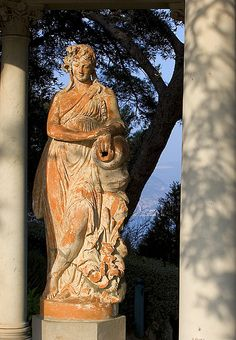 Terracotta Muse I, Villa Ephrussie, St. Jean Cap-Ferrat, France