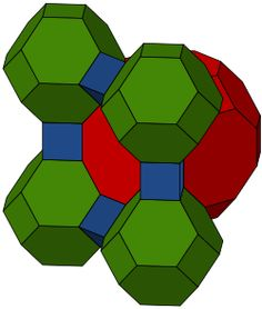 Geometry at its best: 3D tiling!  honeycomb -  truncated cuboctahedra, truncated octahedra, and cubes