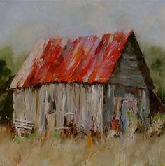 Remembering - Susie Pryor by sheri Building Painting, Building Art, Watercolor Barns, Watercolor Paintings, Watercolors, Landscape Art, Landscape Paintings, Barn Paintings, Landscapes