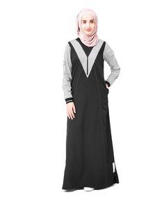 Black Checkpoint Jilbab