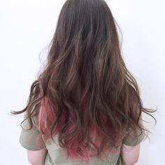 ロングで遊ぶならインナーカラーはgood Kpop Hair Color, Hair Color Pink, Hair Dye Colors, Pink Hair, Hair Streaks, Hair Highlights, Diy Hairstyles, Pretty Hairstyles, Hair Color Underneath