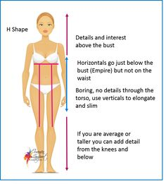 how to dress the H shape body