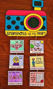 End of Year Activity - Snapshots of my Year by My Teaching Pal End Of School Year, Beginning Of School, End Of Year Activities, Activities For Kids, Material Didático, Classroom Displays, Camping Crafts, School Resources, Summer Crafts