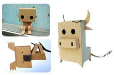 DIY-making cardboard animals http://idoproyect.com/blog/materiales-craft-revolucionarios-y-gratis-ii-el-carton/