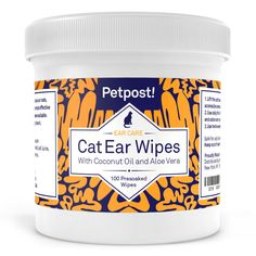 Petpost | Dog and Cat Ear Cleaner Wipes - 100 Ultra Soft Cotton Pads in Coconut Oil Solution - Treatment for Pet Ear Mites and Pet Ear Infections * Click on the image for additional details.