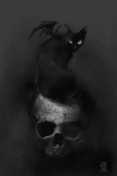 "slobbering: "" The Black Cat II by Nat Jones """