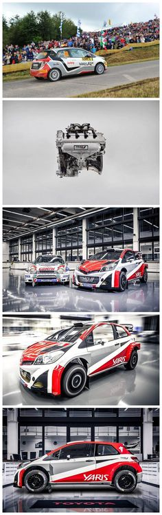 Toyota Yaris WRC: Toyota's will return to WRC Yaris WRC in 2017 and the racecar start testing.TMG specially built the 1.6L turbocharged engine.