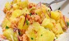WW Potato Salad Salad Dish and Recipe Weigh Watchers, Parfait, Salad Dishes, Actifry, Potato Salad, Entrees, Menu, Food And Drink, Lose Weight