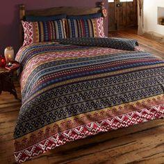 Tunisian DOUBLE Boho Tribal Mosaic Lines Pattern Duvet Quilt Oriental Bedding | eBay