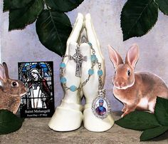 Unbreakable Catholic Chaplet of St. Melangell - Patron Saint of Rabbits, Small Animals and the Environment - Heirloom Chaplet by foodforthesoul on Etsy
