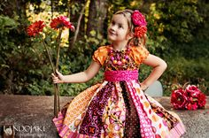 LAST ONE The Autumn Rose dress by Corinna by CorinnaCouture