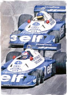 ?? F1 GP, 1977 - Peterson and Detailer in  the amazing Tyrell P34B-Six-Wheeler.