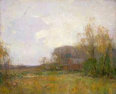 Walter Granville-Smith, Grey Day, 1919. Makes me look forward to painting in the Spring.