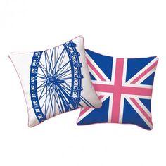 London Ferris Wheel Pillow   Pure Home