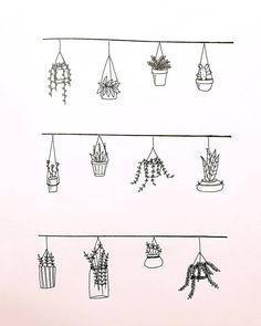 Wonderful Absolutely Free Hanging Plants Concepts, Planter Inspiration for Dess … - Modern Bullet Journal Notebook, Bullet Journal Ideas Pages, Bullet Journal Inspiration, Doodle Drawings, Easy Drawings, Quote Drawings, Bullet Journal Aesthetic, Plant Drawing, Drawing Drawing