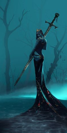 Lady of the lake / Fantasy (Fantasy art) :: art барышня :: Rishiraj Singh Shekhawat :: art (арт) Dark Fantasy Art, Fantasy Artwork, Anime Art Fantasy, Fantasy Girl, Dark Art, Fantasy Love, Dark Souls, Fantasy Creatures, Mythical Creatures