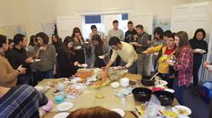Food glorious food.. Lots of lovely nibbles at our end of term party in February!