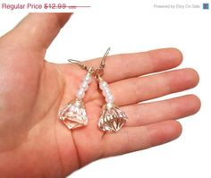 Sailor Moon Princess Silver Moon Imperium Crystal and Pearl Earrings sailormoon jewelry