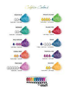 Joico Vero K-Pak Color Intensity Calypso Colors Shade Chart.