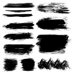 Black hand painted brush strokes Free Ve. Brush Stroke Photoshop, Brush Stroke Vector, Photoshop Brushes, Adobe Illustrator, Vector Free Download, Paint Brushes, Brush Strokes, Grunge, How To Draw Hands