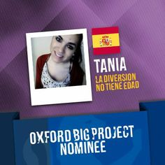 Tania, the owner of the La Diversion no Tiene Edad spanish project. Vote for her project here : http://www.oxfordbigproject.com/en/project-nominee/la-diversion-no-tiene-edad