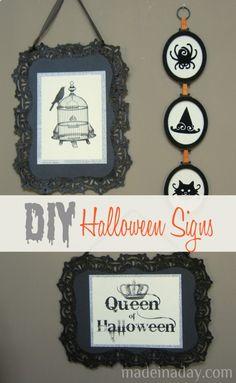 Birdcage Queen of Halloween Sign