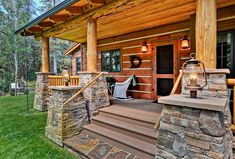 2 Bed Rustic Retreat (Or Three)... - 11549KN | Architectural Designs - House Plans Small Log Home Plans, Small Log Homes, Log Cabin Homes, Log Cabin Exterior, Rustic Home Plans, Log Cabin House Plans, Cabin Style Homes, Barn Plans, Log Cabin Home Kits