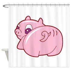Pig Shower Curtain on CafePress.com
