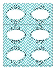 Fun chevron-patterned labels