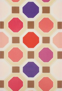Fun octagon print by Florence Broadhurst for Kate Spade