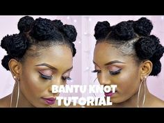 How To Create A Unique Bantu Knot Style On Short Natural Hair