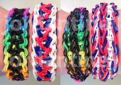 New Double Unity Bracelet - Reversible - Rainbow Loom, Wonder Loom, Craz...