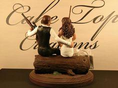 Wedding Fishing Cake Topper