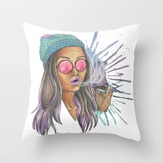 Miss Jane Throw Pillow