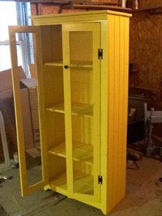 repurposed pallet kitchen cabinet