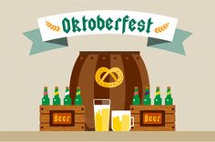 Oktoberfest vector background by Vector-Stock on Creative Market