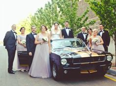 Mustangs in Black 1966 GT350 Convertible Ford Mustang out for Suzanna and Matthew's wedding shoot.