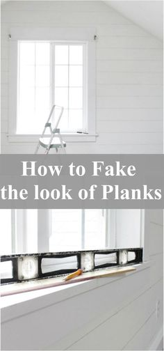 Fake Ship Lap Planks- The Wicker House