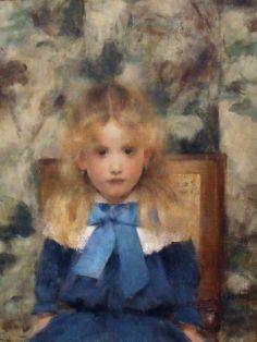"""""""Portrait of Mademoiselle Van der Hecht""""  by Fernand Khnopff (1883)"""