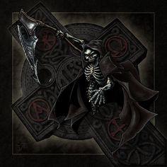 Scary Grim Reaper Drawings | ... art drawings paintings macabre horror grim reaper guy thing and in